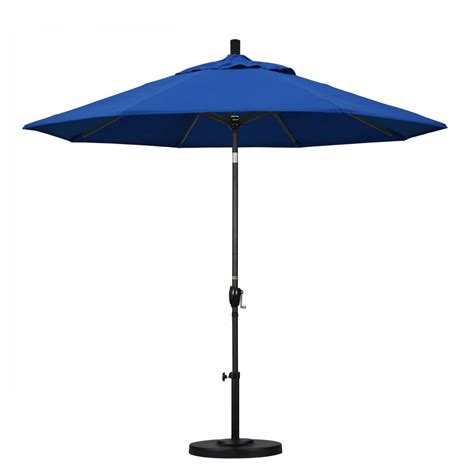 California Patio Umbrellas California Umbrella 9 Ft Aluminum Push Tilt Patio Umbrella In Pacific Blue Pacifica Gspt908302