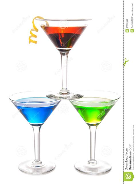 colorful martini cocktails drink composition royalty free