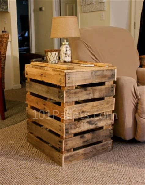 Pallet Side Table Crafted Pallet Side Table 101 Pallets