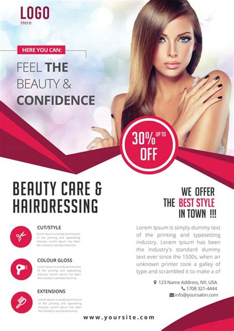 Beauty Care Free Psd Flyer Template Free Flyer For Beauty And Wellness Events Free Skin Care Brochure Templates