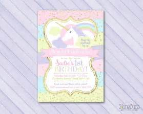 unicorn invitation unicorn birthday invitation magical