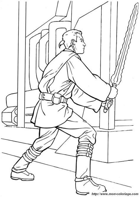 free obe wan vs anakin coloring pages