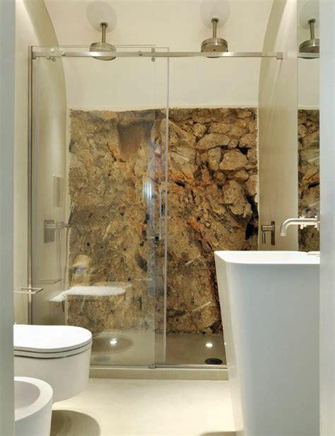 bathroom stone wall wall stone bathroom ideas