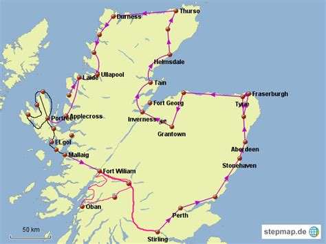 Motorrad Schottland by Motorrad Schottland 2014 Juergen07 Landkarte F 252 R