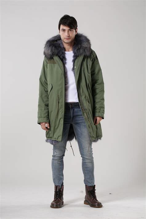 Jaket Parka Green Army Jaket Parka Jumbo Parka Cotton Premium winter jacket coats thick new 2015 coat parkas army green big raccoon fur collar
