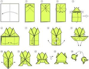origami frog printable easy origami frog tutorials