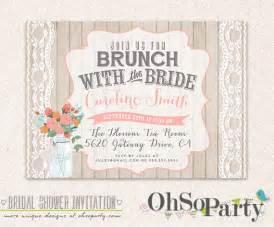 brunch invitation wording shabby brunch custom bridal brunch invitation card by ohsoparty