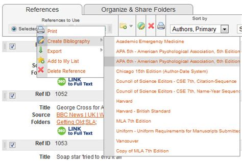 Creating A Bibliography by Creating A Simple Reference List