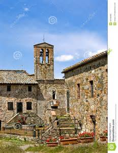 Tuscan Style Home old stone villa in tuscany italy stock photo image