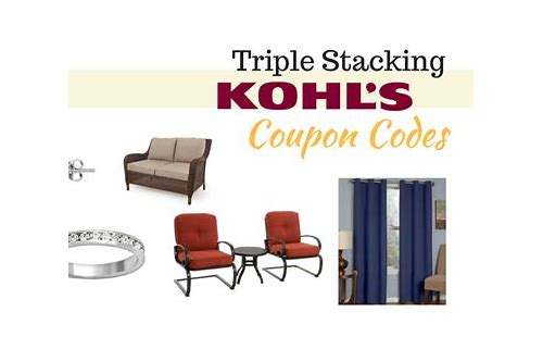 can you stack percent off coupons at kohls