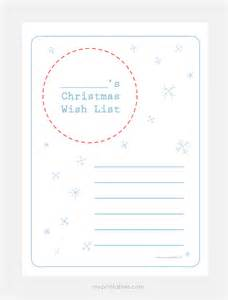 Printable Christmas Wish List Template Christmas Wish List Templates Mr Printables