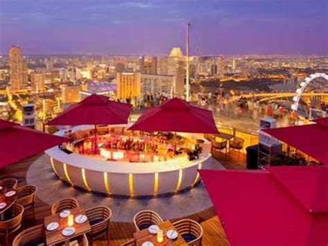 bar on top of marina bay sands restaurants in marina bay sands best food in singapore