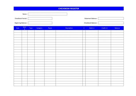 free check register template checkbook register templates new calendar template site