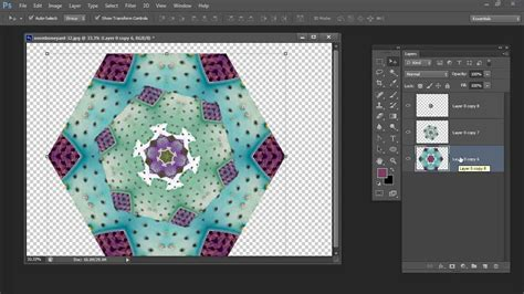 make jpg pattern photoshop make your own kaleidoscope in adobe photoshop youtube