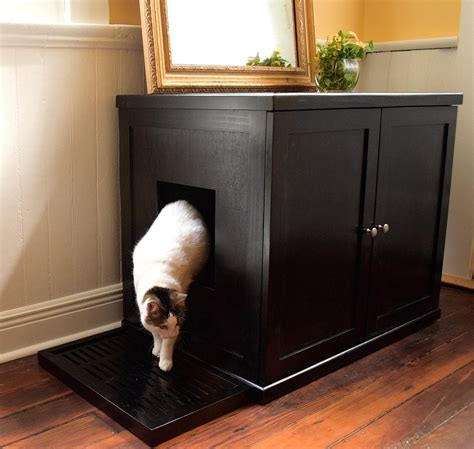 cat litter box cabinet refined feline wooden litter box cabinet the green head