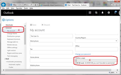 Office 365 Outlook Quota Frequently Asked Questions On Office 365 Computing