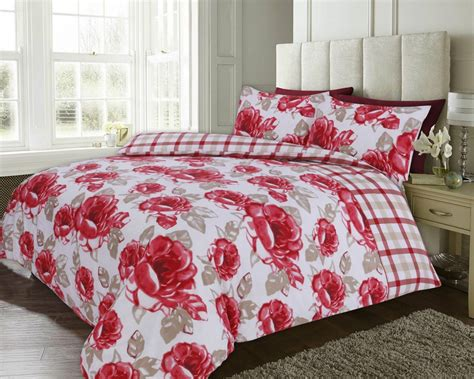 poppy bedding red colour poppy floral design reversible bedding duvet