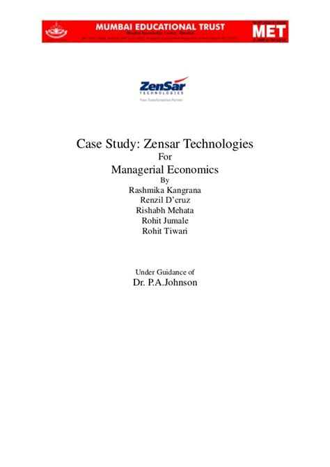 email zensar case study of zensar technologies pune rpg group for