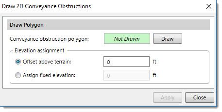 how to assign and draw 2d conveyance obstructions in hec ras?