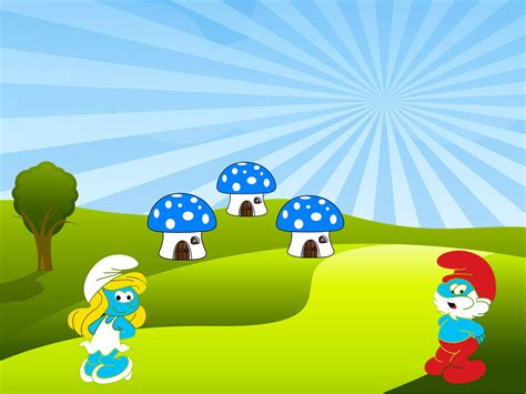 microsoft powerpoint cute themes cute smurfs backgrounds cartoon ppt backgrounds hq free