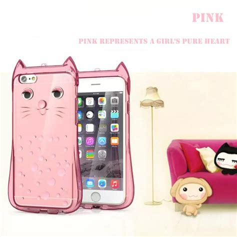 Casing Iphone 6 6s 3d Apple And X Custom Cover best 3d cat soft silicone rubber cover for apple iphone 6s 6s plus ebay