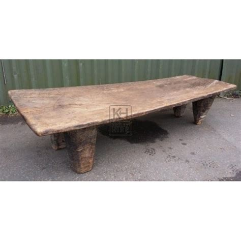 low wooden bench benches prop hire 187 low thick wood bench with short legs keeley hire
