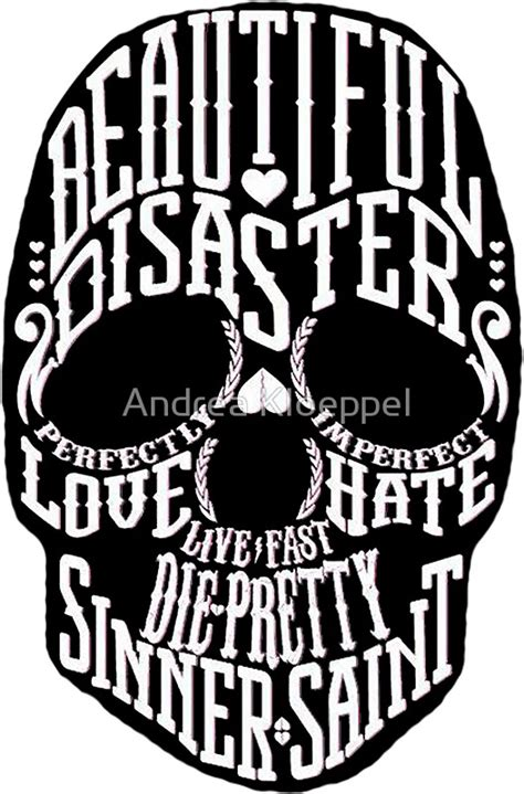 Casing Samsung Galaxy J7 2016 Harley Davidson Skull X4948 quot beautiful disaster skull quot stickers by andrea kloeppel redbubble