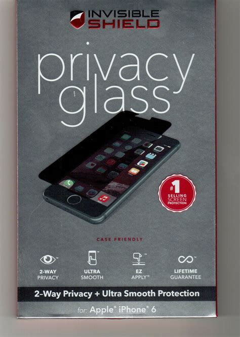 zagg privacy glass invisibleshield iphone 6 6s 4 7