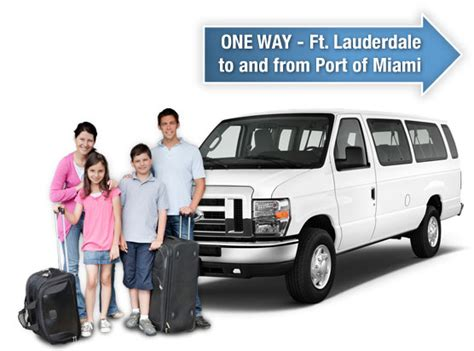 Car Rental Shuttle To Port Of Miami by Port Of Miami To Ft Lauderdale Airport Transportation