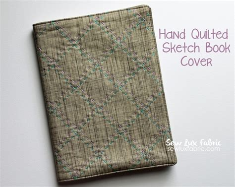 quilted sketchbook cover clover violet sew quilted sketch book cover