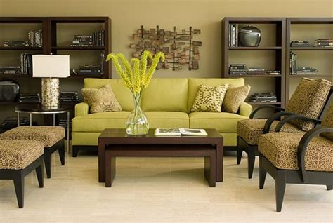 ethan allen avanti sofa eye for design decorating with the brown lime green
