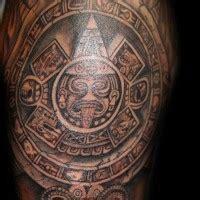 skull in headdress priest aztec on shoulder skull in headdress priest aztec on shoulder