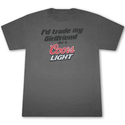 coors light t shirt amazon coors light trade my girlfriend dark gray graphic tshirt