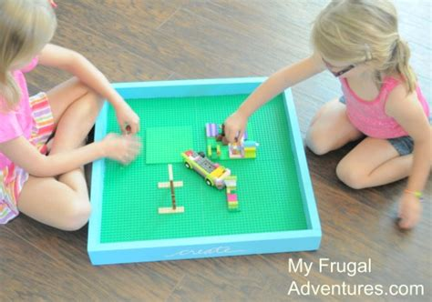 how to build a lego table easy diy lego tray just 5 00 my frugal adventures