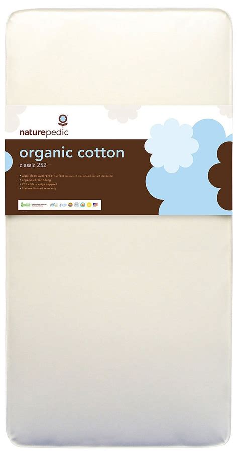 Naturepedic No Compromise Organic Cotton Classic 252 Crib Mattress Naturepedic Combo 2 In 1 Organic Cotton Mattress Bed Mattress Sale