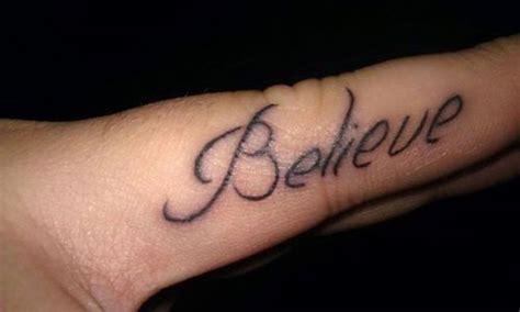 tattoo on finger believe 30 lovely ring finger tattoos creativefan