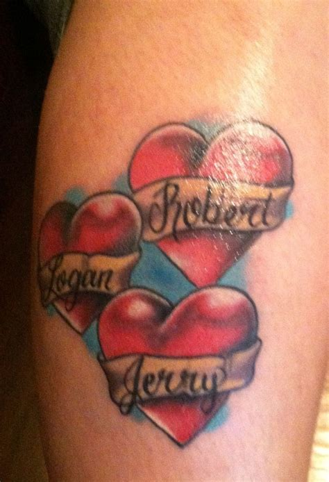 my tattoo with my kids names tattoos pinterest