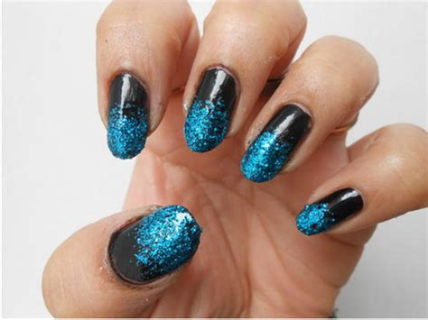 nail art tutorial how to create a glitter gradient using nail art designs 2014 ideas images tutorial step by step