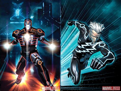 quicksilver film ita iron man e quicksilver in the world of tron foto scene