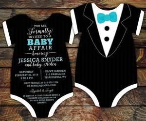 10 tuxedo baby shower invitations black tie invitation die