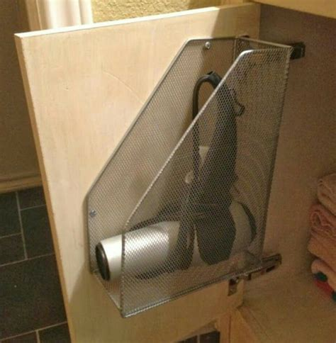Hair Dryer Diy diy hair dryer holder remodeling