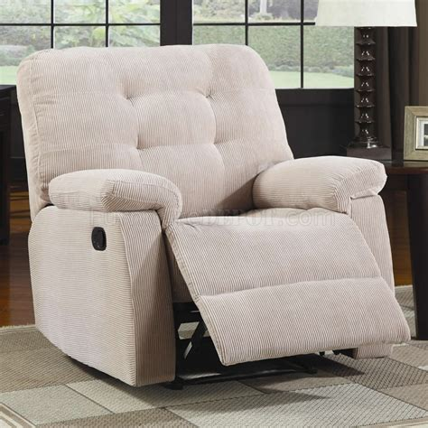 Modern Fabric Recliners by Desert Sand Corduroy Fabric Modern Rocker Recliner W