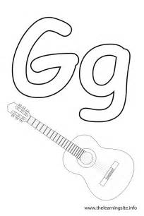 g color letter g coloring page 20327