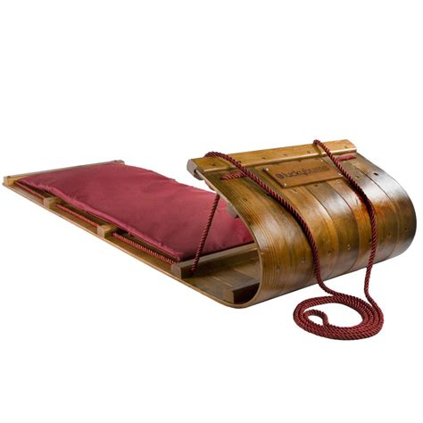 heirloom wooden toboggan
