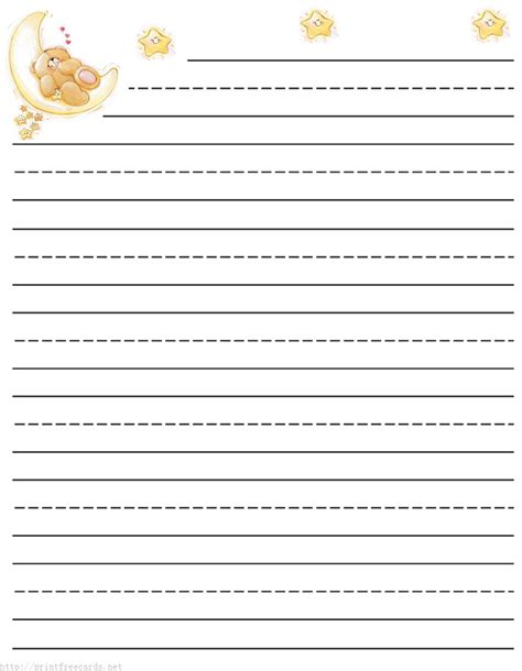 printable writing paper themed teddy bear free printable stationery for kids primary