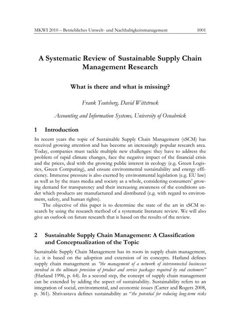 green supply chain management research paper systematic review of sustainable supply pdf