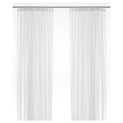 curtains white lill net curtains 1 pair white 280x250 cm ikea