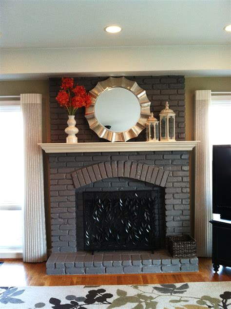 painted fireplace not white it looks diy eendag paint fireplace living