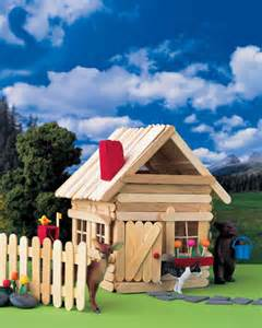 how to build a popsicle stick house popsicle stick house martha stewart