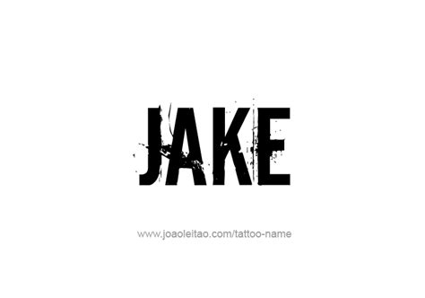 jake name tattoo designs